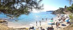 thasos beach (etsimourte) Tags: summer beach sun swimming fun panorama samsung outdoor flickrmonday blue water trip sunny greece thasos people androidcamera wow