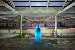 Holy ghost (palateth) Tags: lightpainting lightart night belgique belgie belgium urbex urbanexploration station montzen backlight ghost