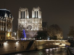 "Paris      ""Pont St Michel"" & Notre Dame (Flame1958) Tags: paris france pontstmichel stmichel notredame christmasinparis parisatchristmas 011214 1214 2014 riverseine christmastree 8018"