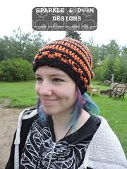 JackSkellington02d (zreekee) Tags: crochet jackskellington spidermambo goth sparkledoomdesigns saskatchewan canada hat slouch toque