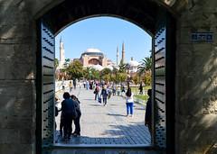 Leaving the mosque (Francisco Anzola) Tags: istanbul turkey city hagiasofia ayasofiya gate entrance exit
