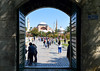 Leaving the mosque (Francisco Anzola) Tags: istanbul turkey city hagiasofia ayasofiya gate entrance exit