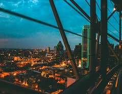 Dallas Skyline (dananguyen) Tags: dallas texas reuniontower observationdeck skyline skyscrapper canont3i canon nightphotography nightscene