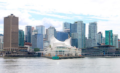 Downtown Vancouver from Burrard Inlet - Canada (The Web Ninja) Tags: vancouver bc british columbia canada canadian photo photography explore explored explorer travel canon canon70d 70d traveling color colour colors image colorimage vancouverbc britishcolumbia canadalandscape day daytime daylight clouds cloudy cloud seascape landscape sea ocean burrard inlet burrardinlet ferry boat boats city cityscape buidlings building downtown downtownvancouver coast vancity