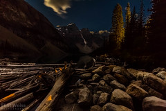 Moraine Lake waiting for the full moon to rise. (FlintWeiss) Tags: mountains nationalpark banff 60d silhouette moonlight alberta 2016 efs1022mmf3545usm nightsky ridge canada canon fav morainelake mountain
