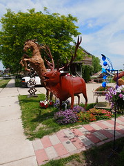 P6080792 (photos-by-sherm) Tags: good quilts retail garden flowers sculpture yard accessories amana iowa summer decorations metal