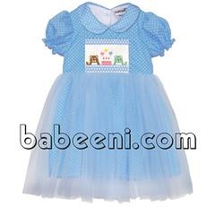 Light blue smocked tutu dress (babeeniclothing) Tags: girl children smocked dress clothing fashion tutus love sweet lovely cute beautiful beauty
