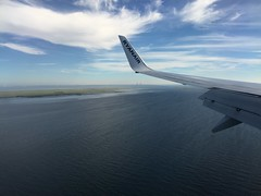 Scandinavia (firehouse.ie) Tags: strait oresundbridge oresund boeing737 800 737 boeing landing approach cph jet ryanair flying sky europe sweden denmark bridge land sea scandinavia