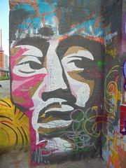 166 (en-ri) Tags: pack mp wesok volto viso face faccia nero bianco marrone parco dora torino wall muro graffiti writing