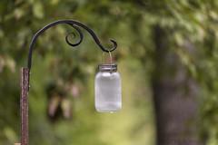 Solar Jar with green background (backyardpix) Tags: outdoors nature bokeh