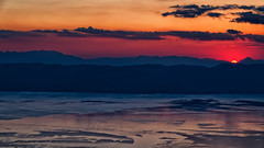 Last Peek (Alfred Grupstra Photography (bussy until 30 octobe) Tags: lakeohrid clouds lake landscape mountains sundown water ohrid macedonivjrm mk