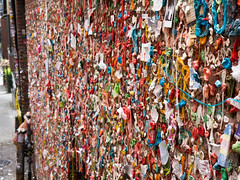 Gum Wall, Post Alley, Seattle (John Wood Photography) Tags: seattle pikeplacemarket postalley gumwall chewinggum wall isitart lumixg7 panasonic johnwoodphotography travel usa
