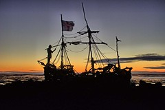 The Grace Darling Pirate Ship, Hoylake, Wirral, England (The Project Manager) Tags: gracedarling hoylake pirateship silhouette