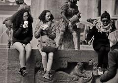what are you doing... (heiko.moser (+ 9.600.000 views )) Tags: sw schwarzweiss street strasse streetart streetfotografie schwarzweis streetportrait streetfoto people personen publicity person potrait leute menschen monochrom mono women woman entdecken einfarbig eyecatch young youngwoman teen teens noiretblanc nb nero bw blackwhite blancoynegro bern schweiz canon candid city heikomoser