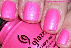 China Glaze Hang-Ten Toes (ladybuglexus724) Tags: purple nail polish lacquer pink red holographic opi orly china glaze revlon finger paints