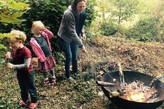 04 marshmallows on the fire pit (Margaret Stranks) Tags: hiddensqu4reminifestival colnstaldwyns gloucestershire uk fundraiser charity harambeeschoolskenya