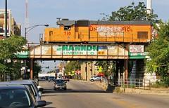 Route of the 77s (BravoDelta1999) Tags: unionpacific up railroad chicagoandnorthwestern cnw railway cragin industriallead belmontavenue chicago illinois emd gp151 upy 710 yno68 local train