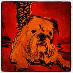 Bulldogge (Kleckerlabor) Tags: dog art dogs animal animals illustration print kunst fine moderne prints haustier künstler malerei gemälde kunstmarkt realismus fineartprint zeitgenössische bildende kunstdruck kunstmaler kunstbilder flickroid