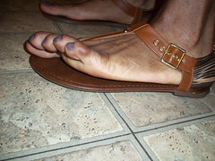 Sally Hansen - Slick Slate nail polish gladiator thong sandals (hyellow) Tags: brown sexy feet beautiful pose foot nice toes long pretty sandals unique gorgeous fine polish flats nails strap slate gladiator