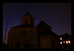 In der Nacht (KLammipic) Tags: sky church night canon stars eos exposure nightsky koblenz mosel langzeitbelichtung longtime 550d sternehimmel