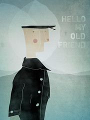 Ishmael : Hello My Old Friend (matt edward) Tags: hello ocean old sea art water illustration book artwork friend dick literature herman sailor moby ishmael melville mattedward