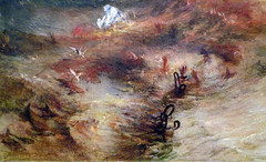 JMW Turner, Slave Ship, detail with chains