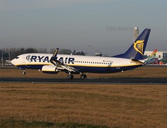 Ryanair        Boeing 737        EI-EVY (Flame1958) Tags: 1212 delivery boeing ryanair dub 737 2012 dublinairport mol b737 boeing737 lowcost michaeloleary b737800 eidw boeing7378as deliveryflight b7378as 181212 irishairline cheapairtravel eievy
