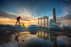 Temple of Apollon , Turkey (Nejdet Duzen) Tags: travel sunset holiday reflection history turkey temple photographer side trkiye ruin antalya harabe tapnak gnbatm apollon tatil yansma turkei seyahat fotoraf tarih tapna mygearandme tepmpleofapollon