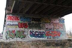 graffiti (wojofoto) Tags: amsterdam graffiti wojofoto hof flevopark amsterdamsebrug pfg stek line anik nederland netherland holland wolfgangjosten