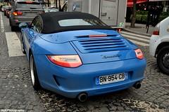 2010 Porsche Speedster. (JayRao) Tags: blue paris france nikon december 911 racing porsche avenue limited edition fuchs speedster 2012 2010 cabriolet 356 jayr worldcars georgecinq d3100