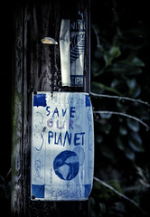 Save Our Planet (Robots are Stupid) Tags: world uk england green art parish handwriting paper poster sussex design bill flyer nikon child notice britain drawing earth politics conservation gb draw crayon leaflet a4 terra telegraphpole telephonepole eco bt southdowns handout greenparty midhurst handbill endoftheworld childart planetearth publicnotice ecowarrior 180mm colouringin stedham saveourplanet savetheworld felttippen d700 180mmnikkor nikond700 greenagenda southdownsnationalpark daviddalley davidjdalley stedhamwithiping thestreetstedham
