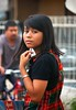 2009_04_01_9999_387fr (Mangiwau) Tags: hot streets west girl shopping indonesia asian java dress butt babe sidewalk jakarta denim raya roadside jalan cantik chequered cewek beib banten ciputat montok tangsel