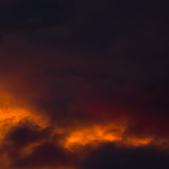 Stormy Sunset III (cristinaruncan) Tags: sunset newzealand summer sun storm abstract colour crimson yellow clouds redcoral nikond90 orangepeachazure orangeredcerise