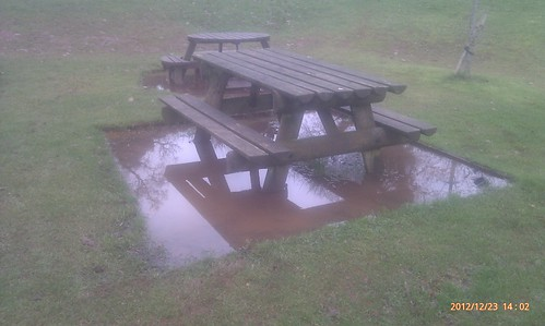 Floating picnic tables