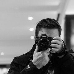 Me In A  Mirror (Jeremy Brooks) Tags: sanfrancisco california camera blackandwhite bw usa selfportrait reflection mirror blackwhite sanfranciscocounty jeremybrooks gplus201252