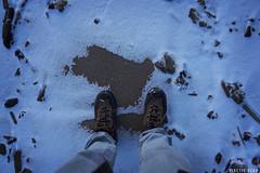 Snowy Beach (KineticBear) Tags: christmas morning winter lake snow feet ice beach wisconsin sunrise river sand pov michigan greenbay tradition menominee jacobmiller kineticbear
