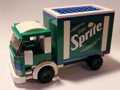 LEGO Sprite Truck (notenoughbricks) Tags: lego sprite coke dietcoke cocacola hic therealthing legocity legotruck legomoc legodeliverytruck legosoda legosodatruck