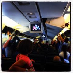 In volo con l'American Airlines