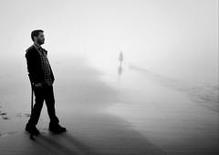 """In a Dream"" (Sion Fullana) Tags: sanfrancisco california portrait blackandwhite bw blancoynegro beach beauty fog fairytale sfo retrato foggy dreamy anton niebla allrightsreserved myhusband antonkawasaki sionfullana uploaded:by=flickrmobile flickriosapp:filter=nofilter"