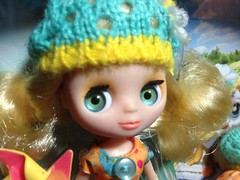 B5 615 Blythe Loves Littles Pet Shop Pinwheels and Daisies box doll closeup