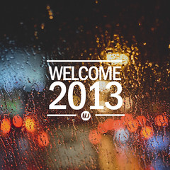 Welcome 2013 (mazwan mj) Tags: new colour water 35mm happy typography nikon bokeh year drop 2013 f18g thisismj