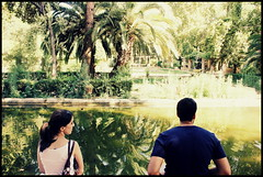 Parque de Mara Luisa / Maria Luisa Park, Sevilla. (mysa kh) Tags: park flowers parque trees lake reflection green leaves river outdoors sevilla spain maria seville tourists andalucia palm espana greenery luisa