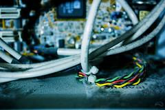 Get Dusted (MaDauprat) Tags: color cables dust poussiere composants