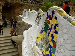 Barcelone - Parc Güell (larsen & co) Tags: barcelona spain gaudi espagne barcelone modernisme parcgüell antonigaudi trencadis