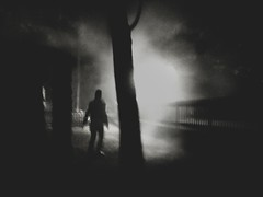 Trough The Night (Yves Roy) Tags: street shadow blackandwhite bw black contrast dark austria blackwhite interestingness interesting woods raw moody darkness noiretblanc fav50 28mm snap fav20 gloom fav30 yr enigmatic fav10 fav40 ricohgrd grdiii bureboke yvesroy yrphotography lastpictuein2012