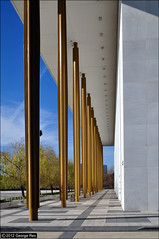 Kennedy Center / colonnade (George Rex) Tags: usa architecture washingtondc washington theatre unitedstatesofamerica modernism potomac operahouse colonnade kennedycenter artscentre foggybottom modernmovement johnfkennedycenterfortheperformingarts edwardstone marblecladding grxa23 photographygeorgerex georgerexphotography imagesgeorgerex