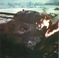 Burning  Soviet tank T-34 knocked out during the battle near the town of Klin (Krueger Waffen) Tags: war tank wwii armor russian armour armored waffenss tanks panzer secondworldwar afv worldwartwo armoredvehicle armoured armoredcar wehrmacht t34 sdkfz easternfront pzkpfw russiantank destroyedtank russianarmor secondworldwartanks knockedouttank worldwartwotanks tanksofthesecondworldwar