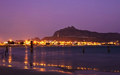 Aden - Al Brega (Zizi Ali) Tags: sea mountain beach water lights sand yemen brega aden waterscapes