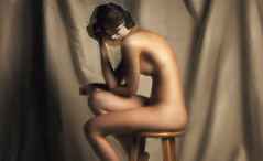 Absence (Vertex Photography) Tags: california ca woman motion blur art jeff colors girl beauty mystery lady speed painting studio naked nude photography photo experimental photographer slow skin artistic thomas bees alien fine creative surreal canvas story serenity shutter mysterious isolation serene concept emotional conceptual stool nudity tones temecula telling trial stylized strobe absence implied vertex strobist
