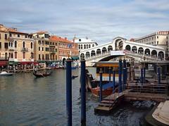 Rialto Bridge Venice (saxonfenken) Tags: city bridge venice italy rialtobridge buildings boats canal posts grandcanal 196 gamewinner pregamesweepwinner venice8thoct2012 196bridge